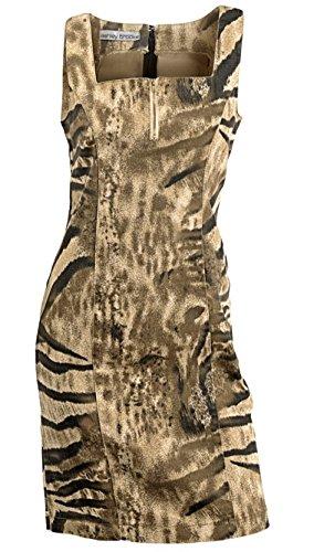 Kleid Sommerkleid Etuikleid von Ashley Brooke - Schlamm Gr. 40