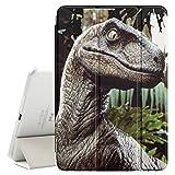 STPlus Dinosaur Prehistoric Animal Smart Cover with Back Case + Auto Sleep/Wake Funtion + Stand for Apple iPad Mini 4