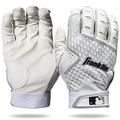 Franklin Sports 2nd-Skinz Batting Gloves - White/White - Youth XX-Small