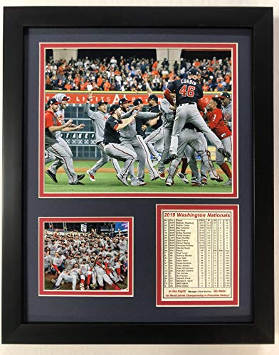 "Legends Never Die Washington Nationals - 2019 World Series Champs - Celebration - Framed 12""x15"" Double Matted Photos, Inc."