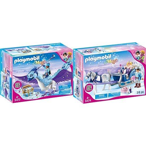 PLAYMOBIL 9472 Spielzeug - Prachtvoller Phönix Unisex-Kinder & 9474 Spielzeug-Schlitten mit Königspaar, Unisex-Kinder