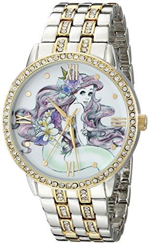 Disney Women's W001828 Ariel Analog Display Analog Quartz Two Tone Watch