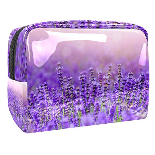 Maquillage Cosmetic Case Multifunction Travel Toiletry Storage Bag Organizer for Women - Lavender Field Purple