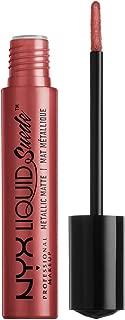NYX PROFESSIONAL MAKEUP Liquid Suede Metallic Matte Lipstick, Bella
