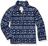 Amazon Essentials Kids Boys Polar Fleece Full-Zip Jackets, Blue Geo, Large