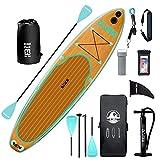 DAMA - Tabla de surf de remo inflable, textil de punto y PVC, tabla de viaje, tabla de yoga, aleta, bomba manual, correa, para jóvenes y principiantes