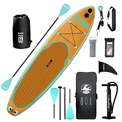 DAMA 10'6'x32'x6' Inflatable Stand Up Paddle Board, Yoga Board, Camera...