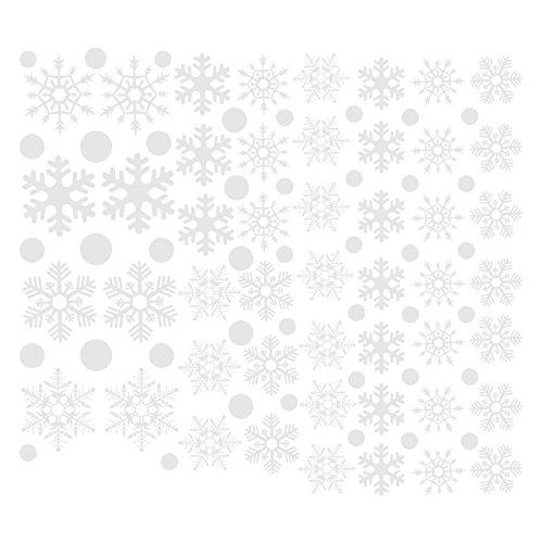 Toyvian Vinilos de Navidad para Ventana de Copo de Nieve Vinilos de Escaparates para Dormitorio Infantil Pegatinas de Navidad Adornos para Ventanas Pared 48 Piezas