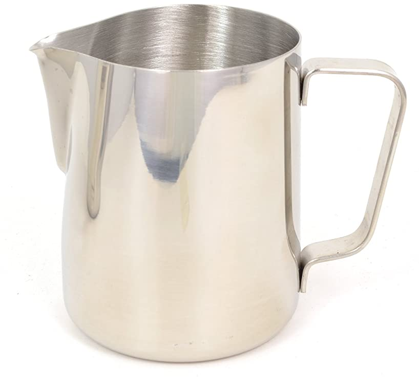 BrewGlobal Rhinoware Classic Pitcher, Stainless Steel 12 oz (RHCL12oz)