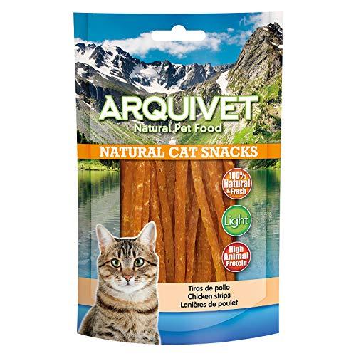 Arquivet Tiras de pollo - Natural Cat Snacks - Snacks gato - 50 g