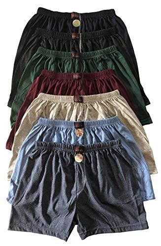 .bakis. 3/6/9/12 Stück Klassische Herren Boxershorts Unterhosen Unterwäsche OHNE Eingriff in Normalgröße und Übergröße in verschiedenen Unifarben Gr.5(S)-13(6XL) - 6 Stück - Gr. 9(XXL)