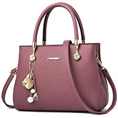 """UTILITY: Shoulder Bag Purse, Handbag , Tote, Crossbody bag ,Messenger Bags MATERIAL: High Quality PU Leather handbags;Fashionable and durable. DIMENSIONS: 11.02""""L x 5.1""""W x 8.6""""H.Suitable for you to carry it in daily-use, such as shopping. dating, wo..."""