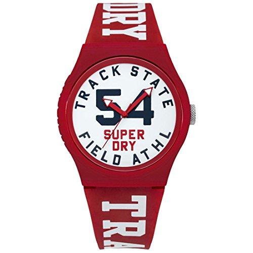 Superdry Unisex Kinder Analog Quarz Uhr mit Silikon Armband SYG182WR