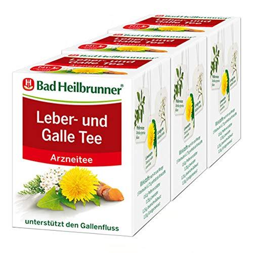 Bad Heilbrunner® Leber- und Galle Tee, 3er Pack
