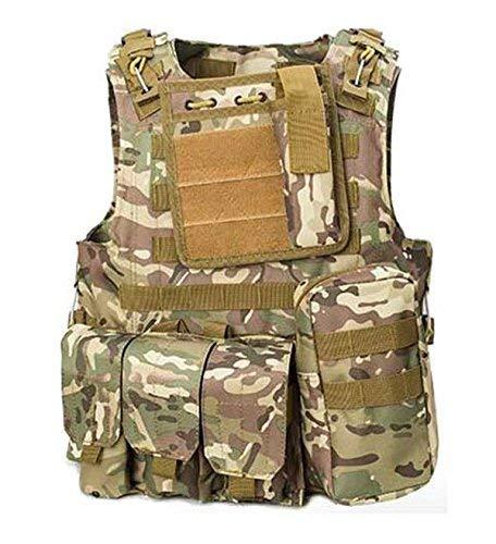 ATAIRSOFT CS Militaire Tactique Gilet Molle Combat assaut Plaque Transporteur Tactique Gilet vêtements de Plein air Chasse Gilet (MC)