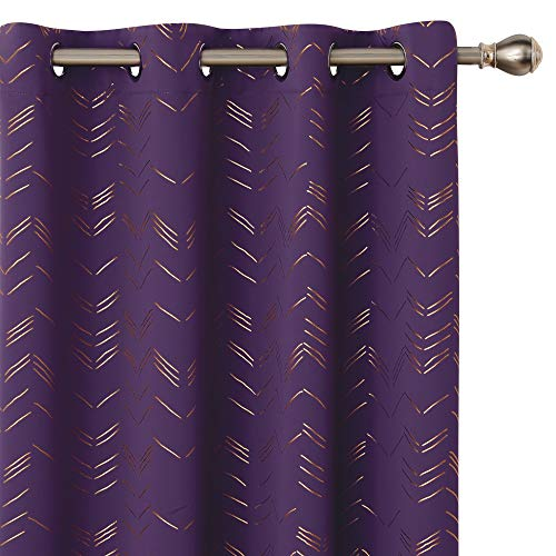 Amazon Brand - Umi Cortinas Salón Habitacion Opacas Modernas Térmicas Aislante Decorativas con Ojales 2 Piezas 140x229cm Púrpura Oscuro
