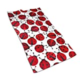Red Ladybugs Kitchen Towels ¨C 17.5X27.5in Microfiber Terry Dish Towels for Drying Dishes and Blotting Spills ¨CDish Towels for Your Kitchen Decor