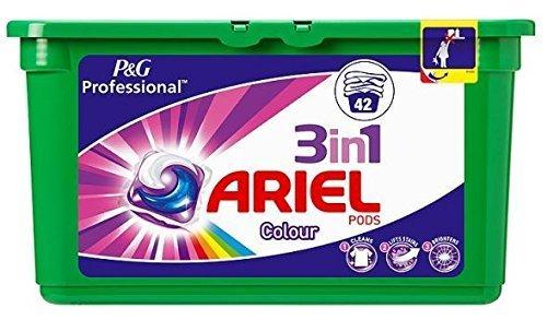 Ariel 3in 1Farbe Pods Kapseln Liquitabs 42Packungen P & G Professional