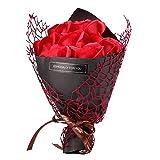 ADGEAAB Flores Artificiales Flores Artificiales Regalo Boda 7 Jabón Rosa Flor Caja Regalo Ramo Oso Relleno Esposa Presente Día San Valentín Fiesta Cumpleaños