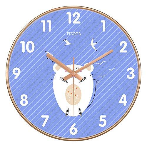 ZZLHHD RelojdeParedModernoRelojdeparedcreativoultrasilencioso-A34doradogrisblancoRelojdeparedsilencioso