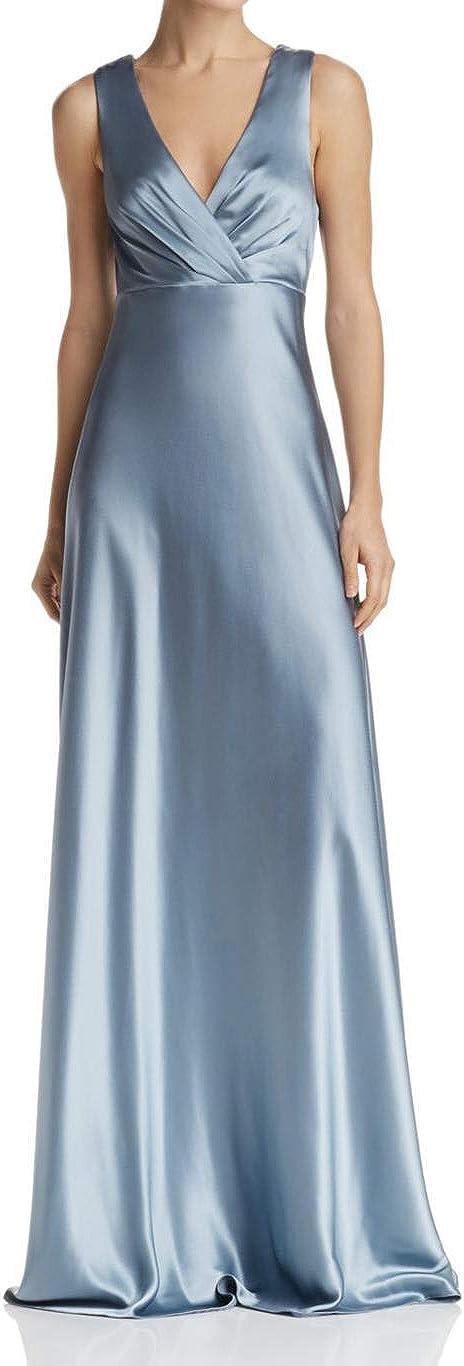 Jill Jill Stuart Bow-Back Satin Gown Glacier Size 6