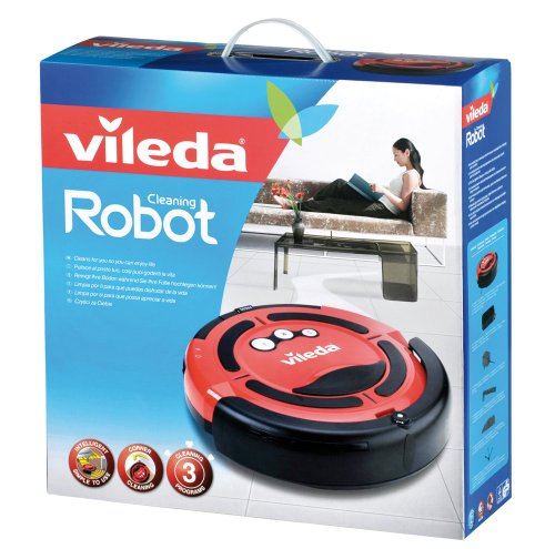 Vileda 137173 Cleaning Robot – Saugroboter zur Zwischendurchreinigung – für glatte Böden & kurzflorige Teppiche - 5