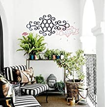 NAYAB 62cm Long Black Iron Scrolled Garden Decorative Wall Art Hanging Sculpture Home and Outdoor Decoration