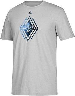 adidas Vancouver Whitecaps FC MLS Men's Grey Smoke Out Team Logo Climalite Performance T-Shirt