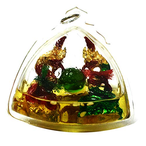 Amulets Amazing Thailand Magic Duo Naka (Look Keaw) Snake Phaya Nark Talisman in Oil Love Charm Luck Protect Pendant