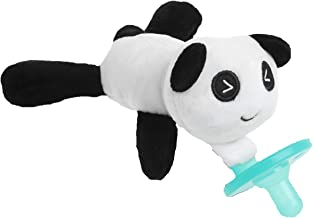 Baby Pacifier with Animal Attached - Stuffed Panda Bear Soothie Paci & Teether for Your Child- Teething Infant + Plush Toy - Baby Animal Pacifier for Newborns - BPA-Free, Unisex for Boys & Girls Gift
