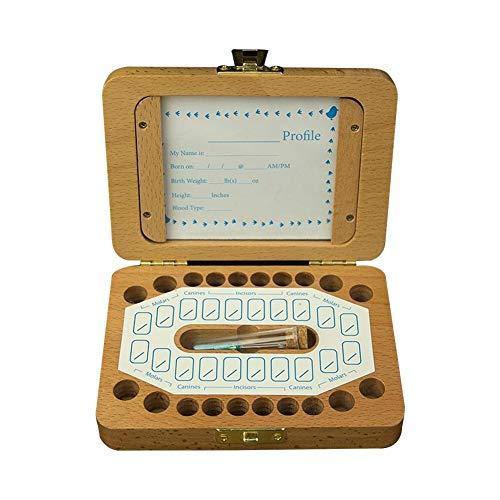Les enfants des dents Keepsake Box, Baby Teeth Enregistrer Organisateur Kit, Collection Tooth avec la mémoire du cadre photo Stockage Souvenir Case cadeau pour les mamans d'enfants, Ensemble de 5