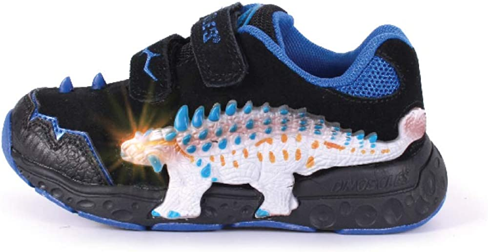 Free Shipping Cheap Sale special price Bargain Gift Dinosles 3D ANKYLO Flashing LED Low-TOP Children Shoes for Kids