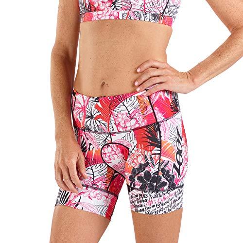 Zoot Damen Triathlon 6 Inch Hose Style Ali'I mit 2D Sitzpolster, Seitentaschen, LSF 50+ und Seamlink-Nähten Größe L