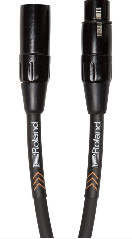 Cable de micrófono balanceado de la serie Black de Roland de 7,5m de longitud - RMC-B25