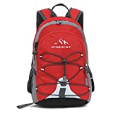 Childrens Backpack For school hiking camping Mini Small Backpack (Red)