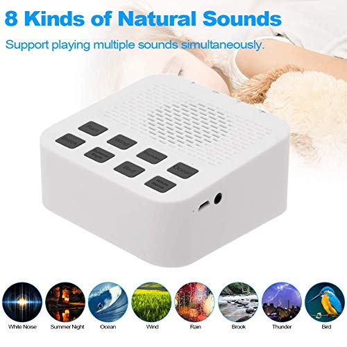 Sleep Assistant Bluetooth Speaker Draadloos met 8 Natuurlijke Wit Ruis 3.5mm Hoofdtelefoon Poort Bluetooth Subwoofer Speaker Draagbaar