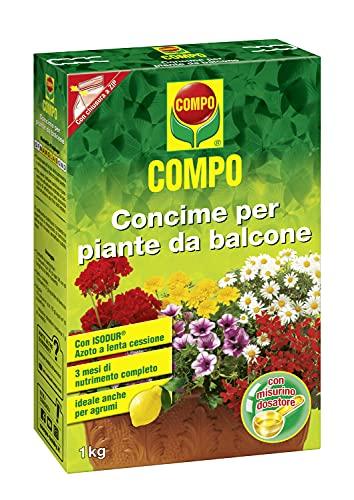COMPO Concime per Piante da Balcone, Con Azoto a lenta cessione, Con misurino dosatore, 1 kg