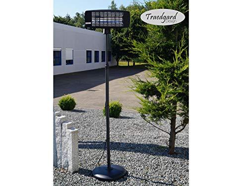 Traedgard® Infrarot Stand Heizstrahler Morsum 2000 Watt mit Fernbedienung und Standfuß, 64548 - 6