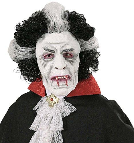 Widmann – Vampier masker met pruik
