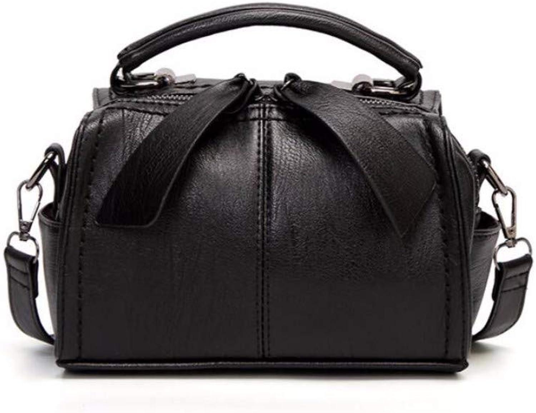 Women's Single Shoulder Handbag Fashion Single Shoulder Handbag Butterfly Zipper Bag Black Trumpet