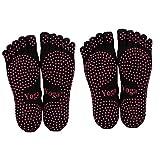 ThreeH Yoga Calcetines Antideslizantes Cinco dedos para mujeres Yoga Pilates Dance...