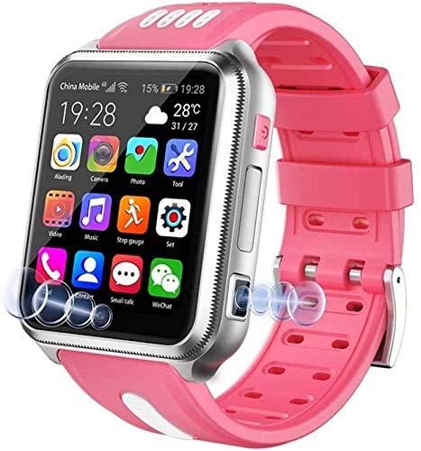 Lloow Intelligente Uhr 4g für Kinder, wasserdichte Smart Watch für Kinder für Android IOS, mit SIM-Karte und TF-Karte, Dual-Kamera, WLAN, GPS, Uhr, Android Smartwatches 2021,Rosa