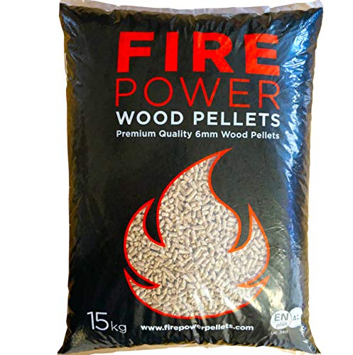Firepower Wood Pellets 6mm EnplusA1 Biomass Pellets 1x 15KG