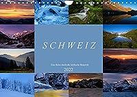 Schweiz - Eine Reise durch die idyllische Bergwelt (Wandkalender 2022 DIN A4 quer): Landschaftsfotos aus dem Berner Oberland, Wallis, Baselbiet und der Innerschweiz (Monatskalender, 14 Seiten )