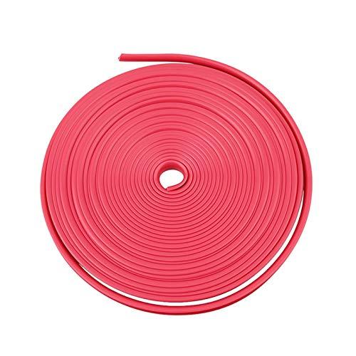 8M Coche Rueda Protector Hub Pegatina Coche Decorativo Strip Rueda Car Rim/Protección de neumáticos Cuidado Cubre Anillos (Color : Pink)