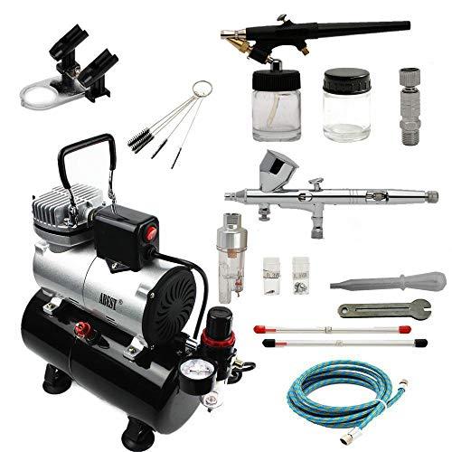 ABEST Airbrush Kompressor-Kit: Luftschlauch, Airbrush-Halter, Minifilter, Double-Action-Mechanismus für Nail Art, temporäre Tätowierungen, Hobby-1-Malwerkzeug