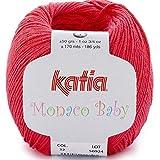 Lanas Katia MONACOBABY Ovillo de Color Coral Cod. 32