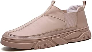 Shhdd Plimsolls shoes for men fashion sneakers slip sports shoes breathable flexible solid vivid Anti-slip international sports circle of foot (Color : Beige, Size : 39 EU)