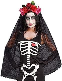 Women's Dia de los Muertos Sugar Skull Costume Headpiece