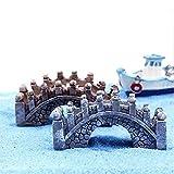 Chocozone Pack of 4 Bridge Miniatures for Garden Decoration Home Décor